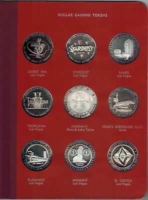 Franklin Mint Dollar Gaming Tokens 1965 Album ~ PURE SILVER ~ NO RESERVE!!!