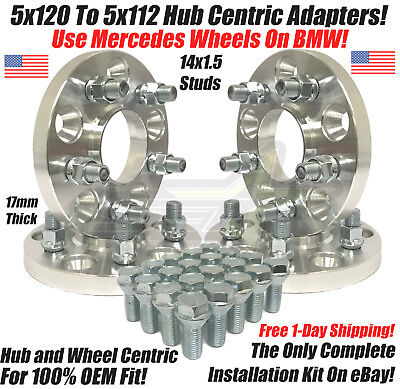 5X120 To 5X112 Hub Centric Wheel Adapters 17mm Use Mercedes Wheels On BMW