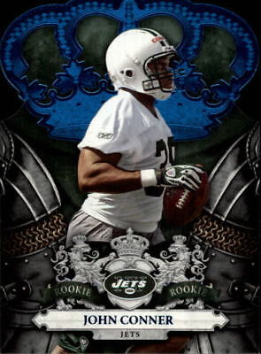 5cfe67bc638 2010 Crown Royale Blue New York Jets Football Card #153 John Conner /100