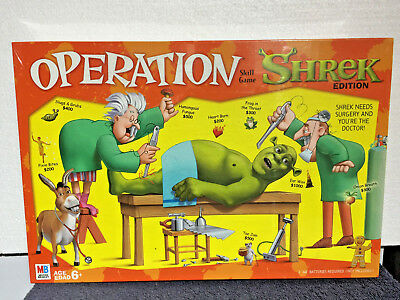 SHREK - Operation Board Game - Battery Operated - BRAND NEW SEALED -LOWEST PRICE