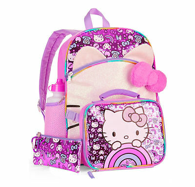 Hello Kitty 5-Piece Backpack Set With Lunch Bag NEW 2018 for kids/girls