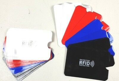 RFID Debit Credit Card Sleeve Wallet Blocking  Protector Contactless Holder Lot