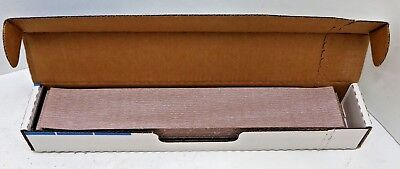 """50 Sheets NEW Norton A275 2-3/4"""" x 16-1/2"""" P320 Grit Body File Sander Speed Grip"""