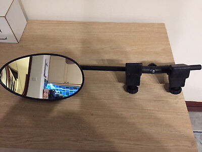 **single Milenco Style Towing Mirror - Flat Glass**