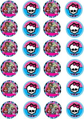 Monster High Edible Image party CupCake Topper