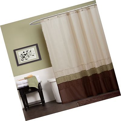 Lush Decor Mia Shower Curtain Green Brown