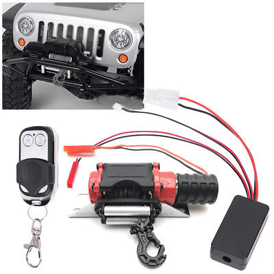 Winch Traction + Remote Control Receiver Kit For 1/10 RC Car SCX10 TRX-4 Crawler