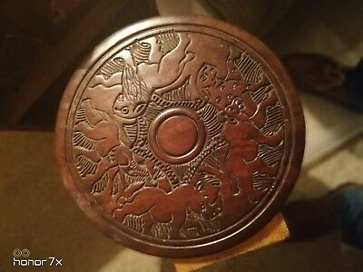 African round table top/wall plaque