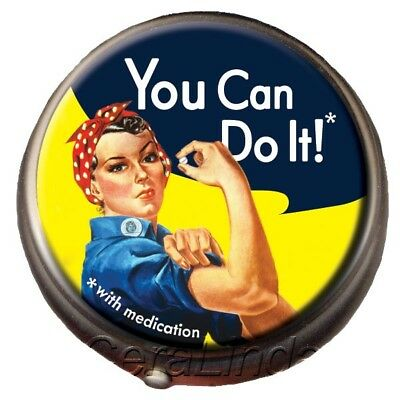 Rosie the Riveter PILL BOX Icon WE CAN DO IT (with medication) gift