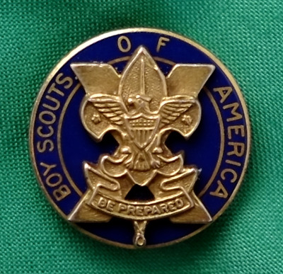 Vintage BSA Boy Scout 10 Year Veteran Pin Pin Back Gold Plated #2