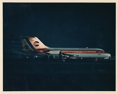 Vintage Continental Airlines Original Tel-Tail Promotional 8x10 Photo N8912 747