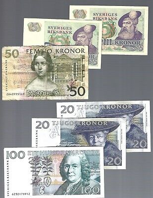 200 Kronor 6 Banknotes from Sweden