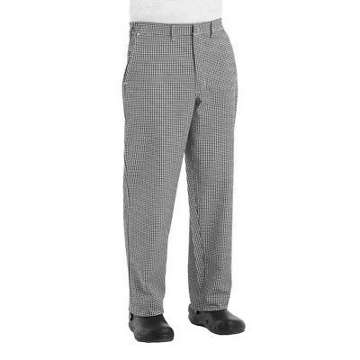 Chef Pants cook Black white houndstooth 28 30 40 42 52 54 NEW  Pinnacle