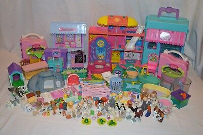 Huge Lot of Vintage 1990's LPS Kenner LITTLEST PET SHOP Playsets