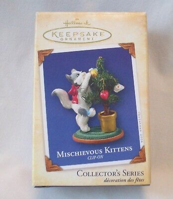 2004 Hallmark Keepsake Ornament Mischievous Kittens #  6 In Series Clip On