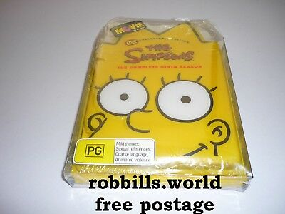 *The Simpsons - Complete Ninth Season 4Dvd Set -Collectors Edition - Sealed *