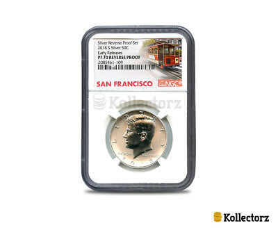 2018 S Silver Kennedy 50C Reverse 50Th Anniversary Ngc Pf70 Early Releases