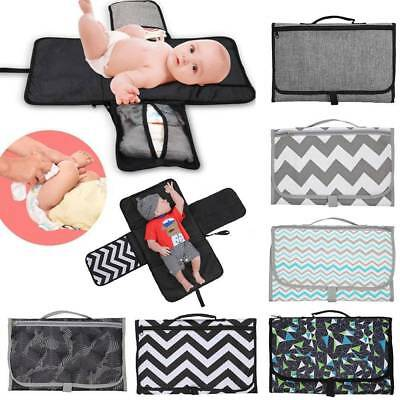 Baby Portable Folding Diaper Changing Pad Waterproof Mat Bag Travel Storage Bags