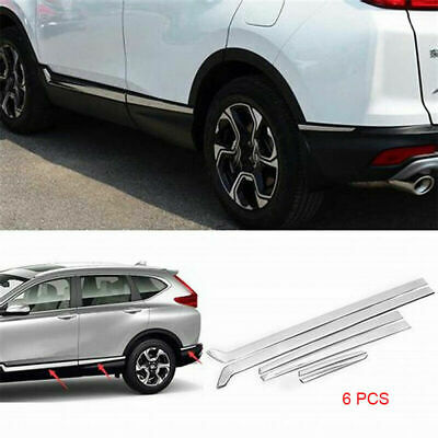 Stainless Steel Body Side Door Moulding Cover Trim for 2017 2018 Honda CRV