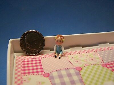 1:12 Scale Dollhouse, Little Girl Doll, About 3/4 Inch Tall