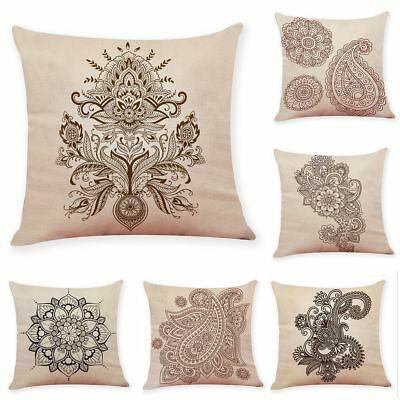 18'' Contracted pattern Cotton Linen Pillow Case Throw Cushion Cover Home Decor