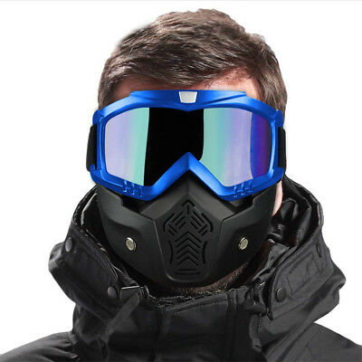 9730edcc35 Winter Snow Sports Full Face Mask Glasses Goggles Ski Snowboard Snowmobile  Skate