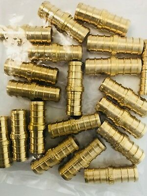 "25 PCS PEX 3/4"" Barb Straight Coupling - Crimp Fitting, LEAD-FREE 25 pcs"