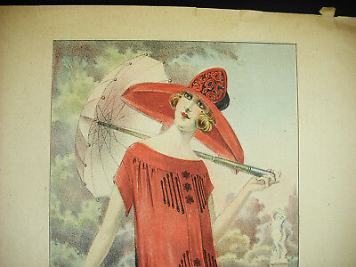 Elegant with a hat Fashion antique Fashion 1930 poster poster 34cm
