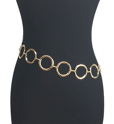 Newest Fashion O Ring Circle Metal Decoration Waist Chain Belt For Women Girl