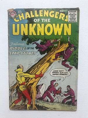 Challengers Of The Unknown 5 Fair/Good  Kirby  Wood inks 1959