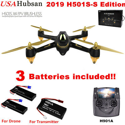 H501S Hubsan X4 Pro FPV RC Quadcopter Brushless 1080P GPS Drone RTF+ Battery