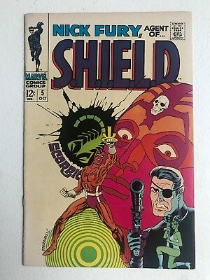 Nick Fury Agent Of Shield 5 Fine- Steranko cover and art 1968 OW