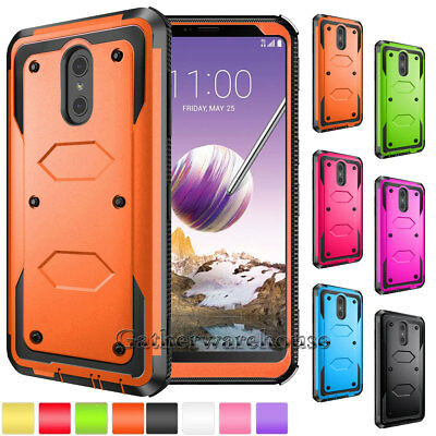 Hybrid Shockproof Protective Armor Hard Phone Case Cover For LG / Samsung Galaxy