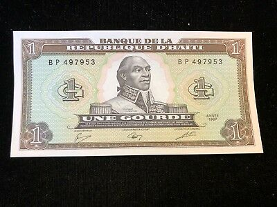 Bank of Haiti 1987 1 Gourde Banknote .99c NO RESERVE