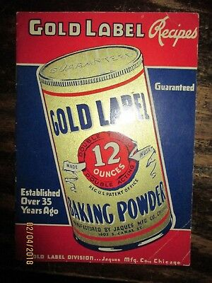 Gold Label Baking Powder Recipes booklet 17 page rare item cook to use Vintage