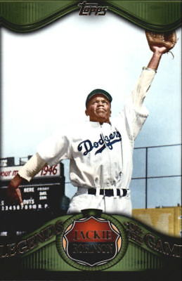 2009 Topps Legends of the Game Dodgers Baseball Card #LG13 Jackie Robinson
