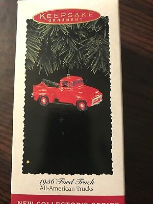 Hallmark Keepsake Ornament  1956 Ford Truck 1995 All American Trucks
