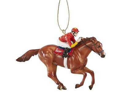 Breyer NEW * Justify - RED Silks * Racehorse Ornament Race Christmas Model Horse