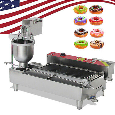 Commercial Auto Electric Donut Making Machine Donut Fryer Stainless steel-US