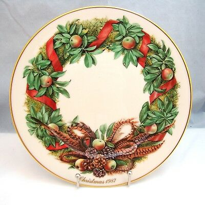 Lenox COLONIAL CHRISTMAS WREATH 1987 Pennsylvania 7th Colony Collector Plate EXC