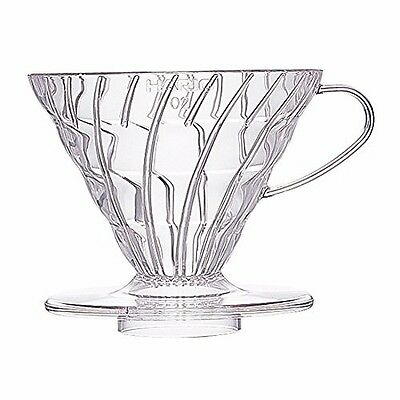 HARIO VD-02T V60 Coffee Dripper Clear 1-4 cups with a measuring spoon from Japan