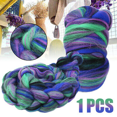 114g Multi-color Felting Wool Mulberry Silk Blend Combed Top Wool Roving 4 oz