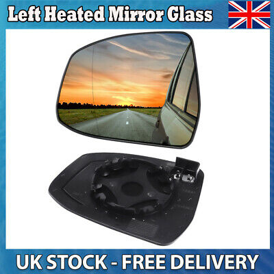 Left Passenger side Wide Angle Wing mirror glass for Citroen Nemo 2008-18 heated