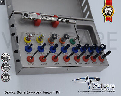 NEW Basic Dental Implant Kit Surgical Drills Torque Wrench Trephine Hex Drivers