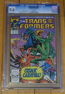 CGC 9.6 Transformers #44 *High Grade*White Pages*