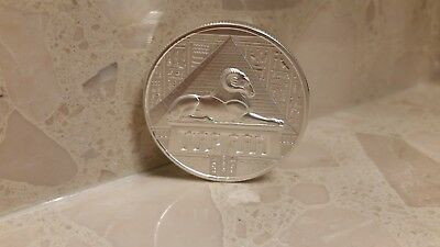 EGYPTIAN GODS SERIES KHNUM ULTRA HIGH RELIEF BU 2 oz .999 SILVER ROUND