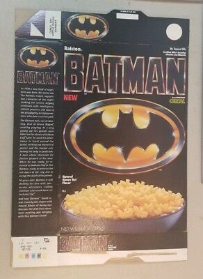 Vintage Batman Cereal Ralston 1989 Box Only    77A
