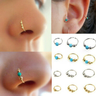 Nose Ring  Turquoise Earring Piercing Hoop Nose Fashion Trendy  Delicate Charm