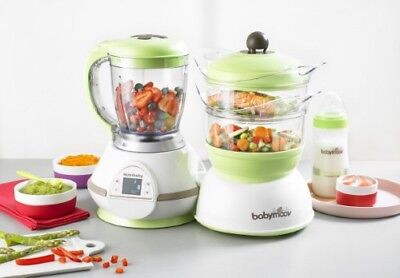 NEW! Babymoov Nutribaby White Baby Food Maker Processor Classic Sterilizer Zen