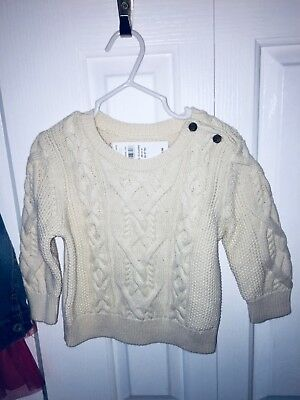 Baby Gap 12-18M Boys Cable Sweater New With Tags